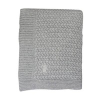 BABY SOFT KNITTED BLANKET SOFT GREY