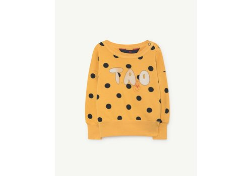The Animals Observatory BEAR BABIES SWEATSHIRT  YELLOW POLKA DOTS