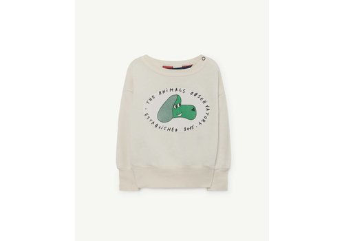 The Animals Observatory BEAR BABIES SWEATSHIRT  WHITE DOG