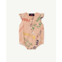 BUTTERFLY BABIES JUMPSUIT TOASTED ALMOND