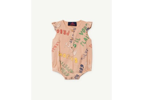 The Animals Observatory BUTTERFLY BABIES JUMPSUIT TOASTED ALMOND