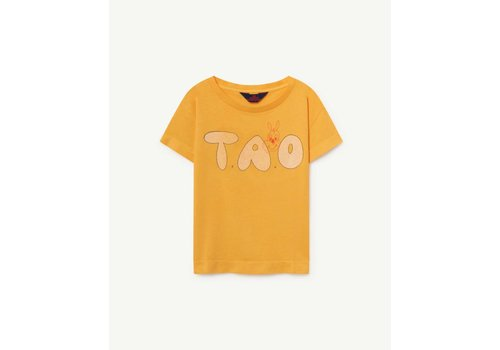 The Animals Observatory ROOSTER KIDS T-SHIRT  YELLOW TAO