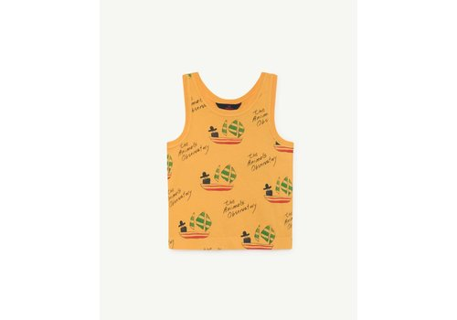 The Animals Observatory FROG KIDS T-SHIRT YELLOW SHIPS