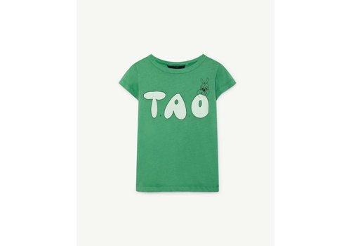 The Animals Observatory HIPPO KIDS T-SHIRT GREEN TAO