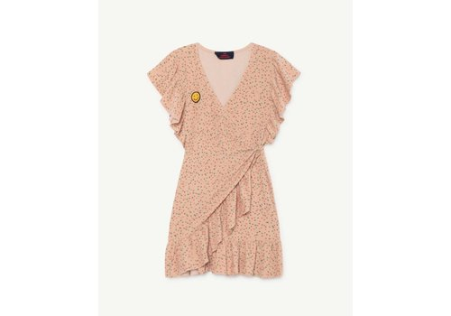 The Animals Observatory WHALE KIDS DRESS TOASTED ALMOND DOTS