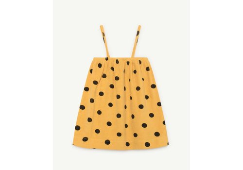 The Animals Observatory STORK KIDS TOP  YELLOW POLKA DOTS