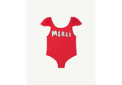 The Animals Observatory OCTOPUS KIDS SWIMSUIT  RED MERCI