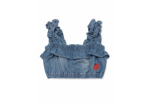 BOBO CHOSES Ruffles Denim Top
