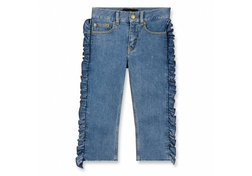Finger in the nose Vandetta Blue Denim Flounces-Girl Woven Eighties Fit Jeans
