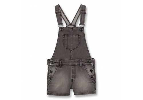Finger in the nose Yumi Grey Denim-Girl Woven Denim Short Overall