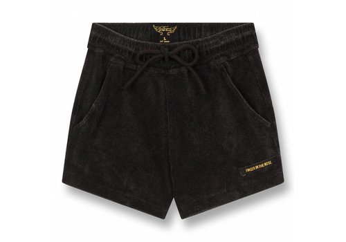 Finger in the nose Trinity Vintage Black-Girl Knitted Mini Shorts
