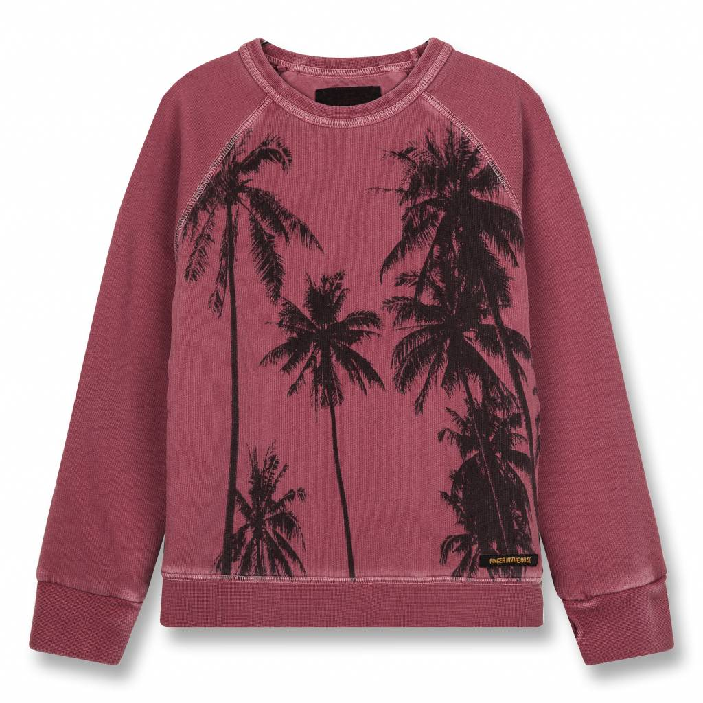 ac45add22 Finger in the nose Hank Plum Palms-Boy Knitted Crew Neck Sweatshirt