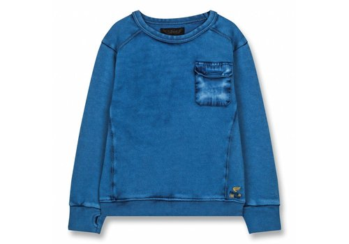 Finger in the nose Brian Kraft Blue-Boy Knitted Crew Neck Sweatshirt