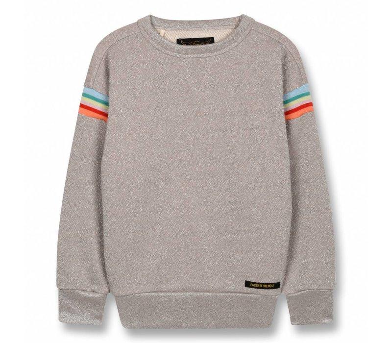 Academy Champagne Glitter-Girl Knitted Round Neck Sweatshirt