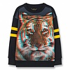 Finger in the nose Academy Super Navy Tiger-Girl Knitted Round Neck Sweatshirt