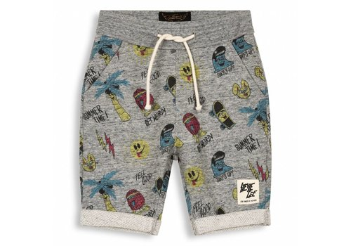 Finger in the nose Grounded Heather Grey Stevie Gee-Boy Knitted Comfort Fit Bermudas
