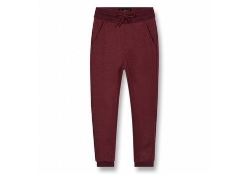 Finger in the nose Sprint Burgundy-Unisex Knitted Fleece Jogging Pants