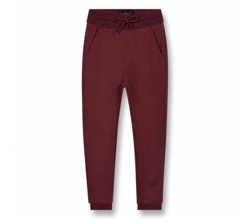 Sprint Burgundy-Unisex Knitted Fleece Jogging Pants