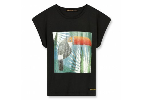 Finger in the nose Marsh Ash Black Toucan-Girl Knitted Sleeveless T-Shirt