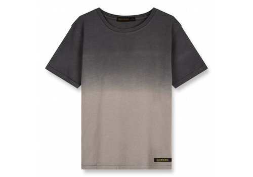Finger in the nose Dalton Warm Grey Dip Dye-Boy Knitted Jersey Short Sleeves T-Shirt