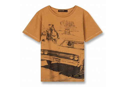 Finger in the nose Dalton Ocher Western Car-Boy Knitted Short Sleeves T-Shirt