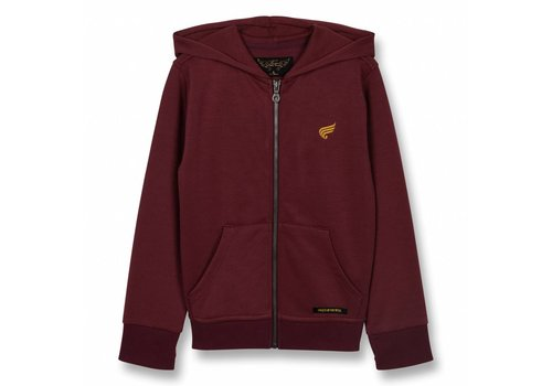 Finger in the nose Hayden Burgundy-Unisex Knitted Zipped Hoody