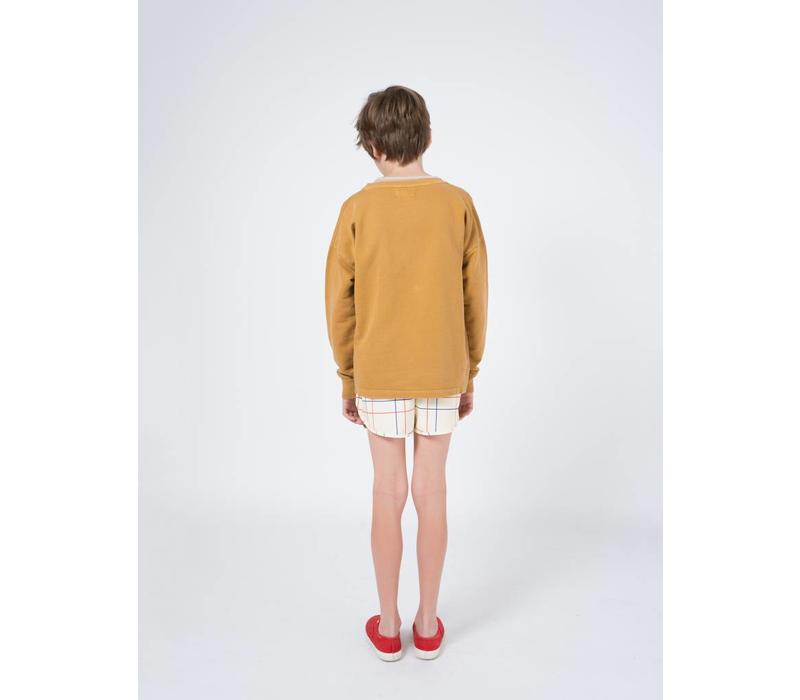 Geometric Round Neck Sweatshirt