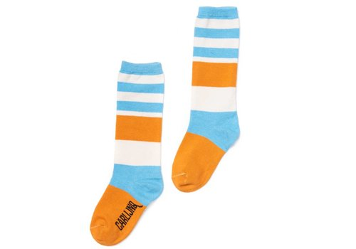 CarlijnQ Knee Socks - Blue / Yellow