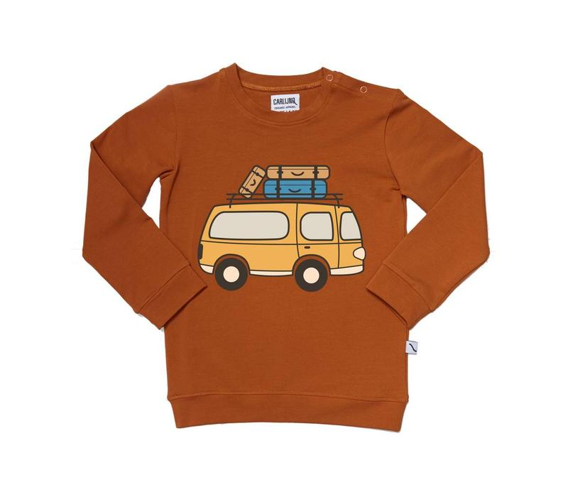 Road Trippin' - Sweater With Van Print