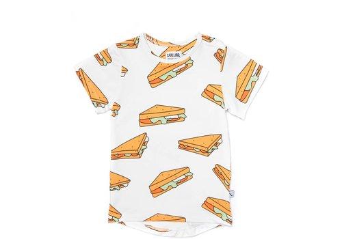 CarlijnQ Sandwiches -  T-Shirt Short Sleeve Drop Back