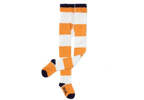 CarlijnQ Tights - Big Stripes Yellow / Off-White