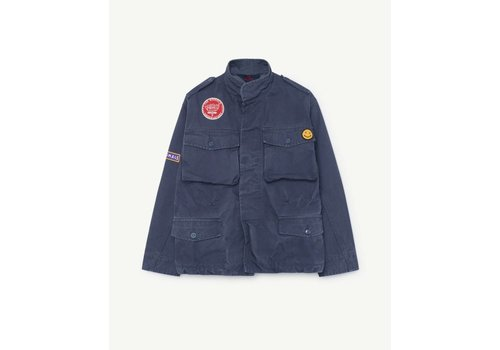 The Animals Observatory MASTIFF KIDS JACKET  BLUE LANDSCAPE