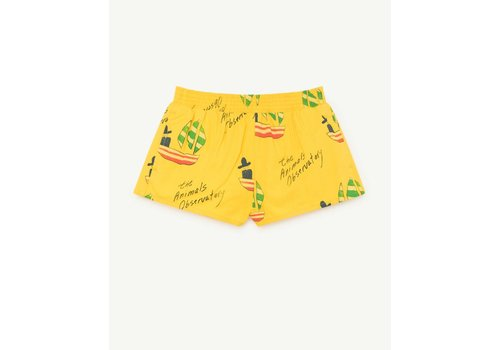 The Animals Observatory PUPPY KIDS SWIMSUIT  YELLOW SHIPS