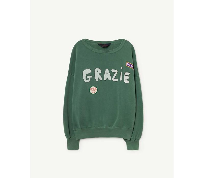 BIG BEAR KIDS SWEATSHIRT  GREEN GRAZIE