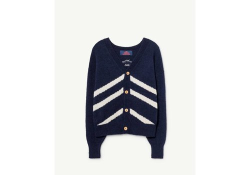 The Animals Observatory STRIPES RACCOON KIDS  CARDIGAN  NAVY BLUE