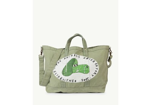 The Animals Observatory BIG CANVAS TOTE ONESIZE BAG  MILITARY GREEN