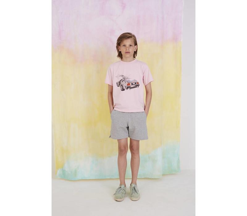 Asger T-shirt Parfait Pink, Delorean