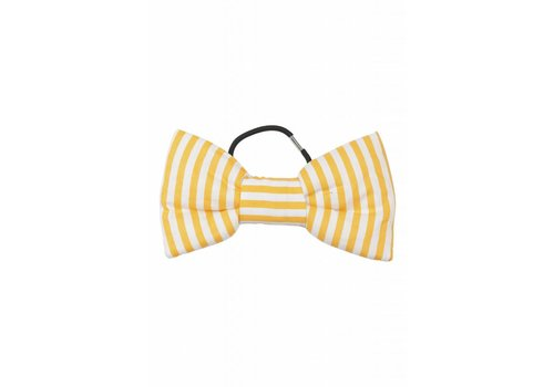 Wauw Capow by BANGBANG Copenhagen Bow Fantastic Striped yellow and white striped