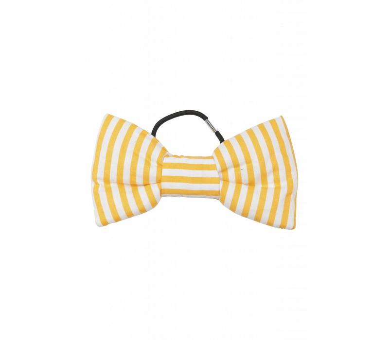 Bow Fantastic Striped yellow and white striped