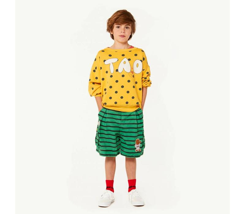 BEAR KIDS SWEATSHIRT  YELLOW POLKA DOTS