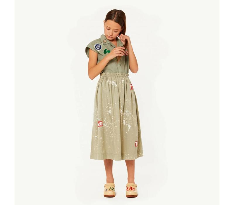 BLOWFISH KIDS SKIRT  GREEN SPLASHES