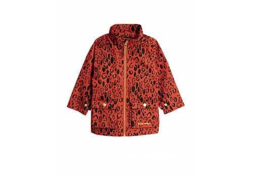 Mini Rodini Leopard Piping Jacket Red