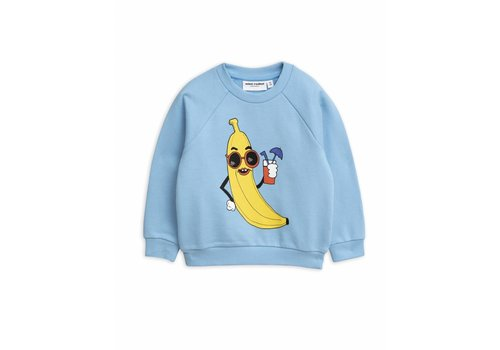 Mini Rodini Banana Sp Sweatshirt Light Blue