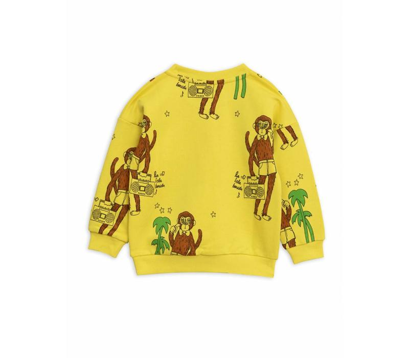 Cool Monkey Aop Sweatshirt Yellow