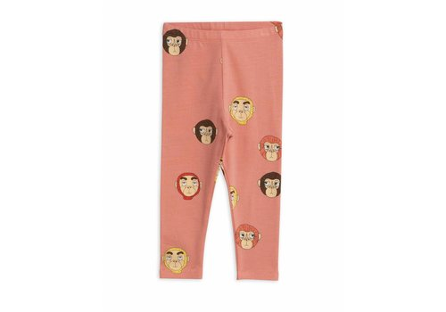 Mini Rodini Monkeys Aop Leggings Pink
