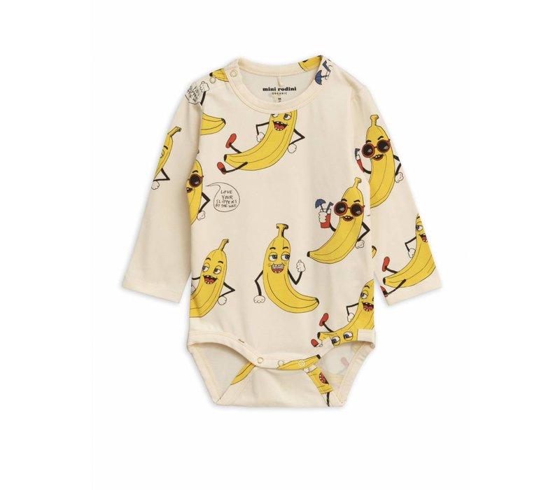 Banana Aop Ls Body Offwhite