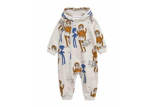 Mini Rodini Cool Monkey Aop Onesie Grey