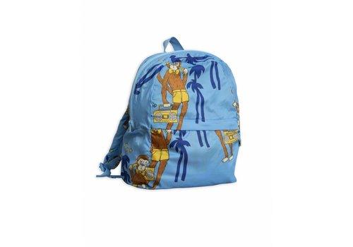Mini Rodini Cool Monkey Light Weight Backpack Light Blue