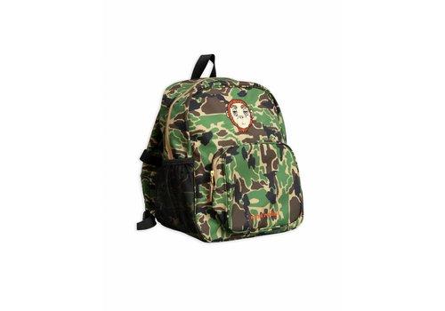Mini Rodini Camo School Bag Green