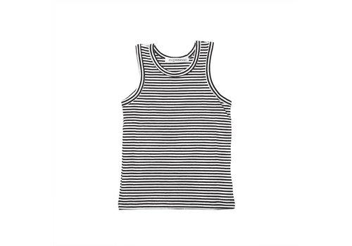 MINGO singlet-b-w-stripes